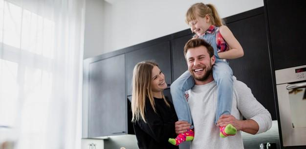çocuklu bir aile